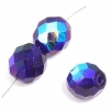 Fire polished 10mm Cobalt Blue Aurora Borealis